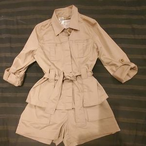 Old Navy Safari Look Shorts and Jacket in Khaki